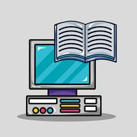 projeto de utensílio escolar para estudar e aprender vetor