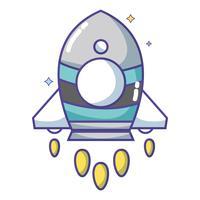 objeto de tecnologia de foguete para explorar a galáxia vetor