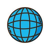conexão social de rede digital global