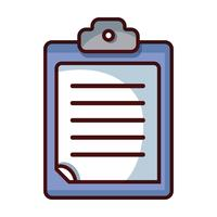 documento de negócios lista de verificação no design da área de transferência