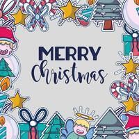 feliz natal feliz celebração design vetor