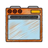 imagem do ícone do forno vetor
