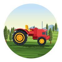 Veículo de trator agrícola