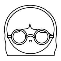 design de acessórios de óculos vetor