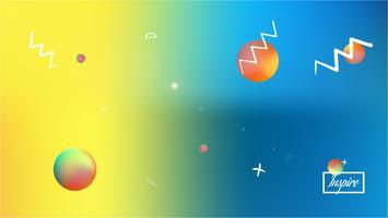Borrão abstrato colorido da imagem do fundo do espaço. vetor