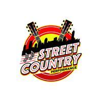 Logotipo de desempenho de música country vetor