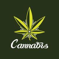 Logo criativo da Cannabis vetor
