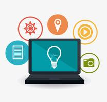Estratégias de marketing digital e social vetor