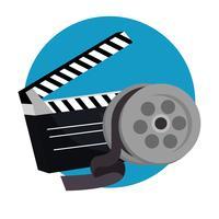 ícones de produção de cinema de badalo