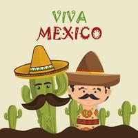 Mexicano com cactus