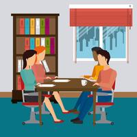 Escritório de negócios e humanos