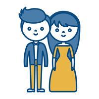 casal de homem e mulher ícone vetor