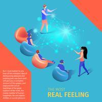 Jovens jogam vídeo game em realidade aumentada