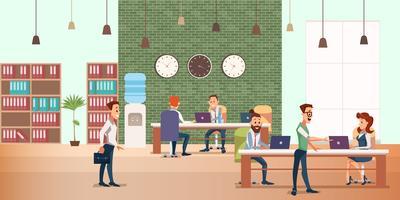 Reunião de negócios no escritório criativo vetor