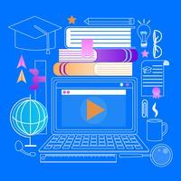 Laptop com leitor de Webinar
