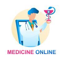 Consulta on-line de medicina médico pediatra vetor