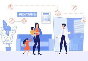 Pediatria de inscrição de cartaz informativo vetor