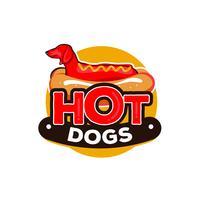 logotipo de cachorros-quentes vetor