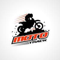 Logotipo de silhueta de bicicleta e piloto de sujeira