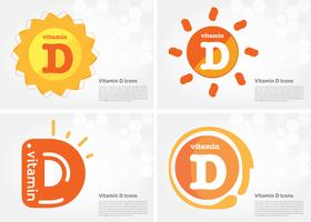 Vitamina D Sol brilhando ícone vetor