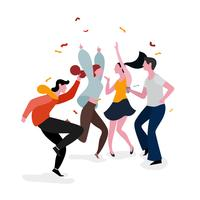 Grupo de festa de dança vetor