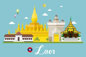 paisagem do curso de laos vetor