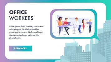 Equipe criativa trabalhando no banner do projeto de negócios