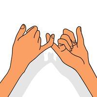 Mãos para o conceito de promessa Pinky vetor