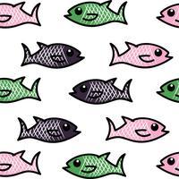 padrão de vetor de peixe