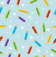 Vetor de lápis de cor padrão sem emenda