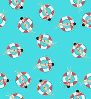 Padrão de anéis de natação