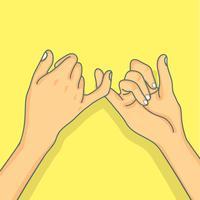 Conceito de promessa mindinho de mão vetor