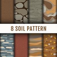 8 Soil Horizon pattern background set coleção vetor