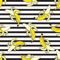Bananas sem costura vetor padrão