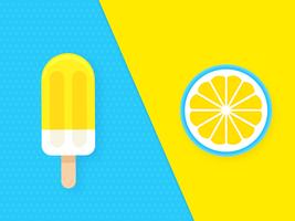 Duo de vetor de limão Pop Color Background