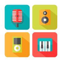 Ícones de música de som vetor
