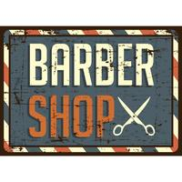 Sinal de barbearia vetor