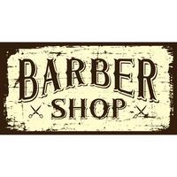 Sinal da barbearia B & W vetor