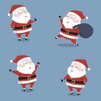 Feliz fofinho Papai Noel coleção definida para o Natal vetor
