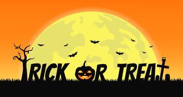 Trick or Treat Banner vetor