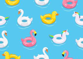 Padrão de flutuadores de animais