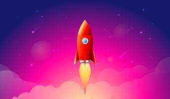 Lançamento do foguete vetor