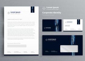 Conjunto de identidade de negócios corporativos vetor