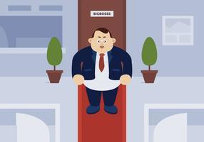 Grande chefe homem de pé no escritório vetor