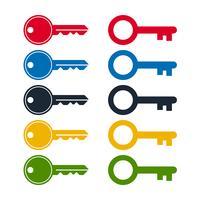 Conjunto de ícones chave vetor
