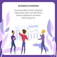 Banner de Tablet de análise de planejamento de negócios