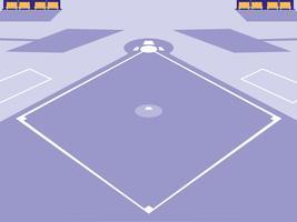 cena de estádio de beisebol esporte vetor