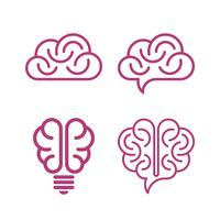 Vários, cérebro, ícones vetor