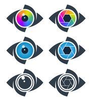 Abstratos, olho, ícones vetor