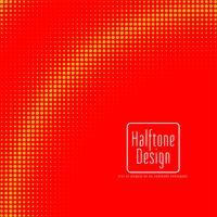 Design de meio-tom vermelho e amarelo vetor